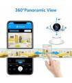 Camera de supraveghere IP WIFI cu microfon, vizualizare 3d , 2MP 1080P, cu rotatie din telefon, senzor de miscare, alarma